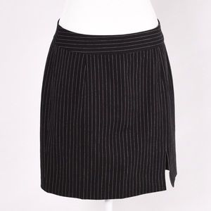 Banana Republic Black  pin strip skirt size 8